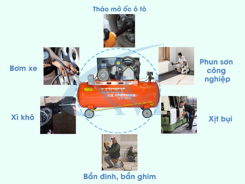 Ứng dụng thực tiễn trong nhiều lĩnh vực của máy nén khí 220 lít 7,5hp Lucky