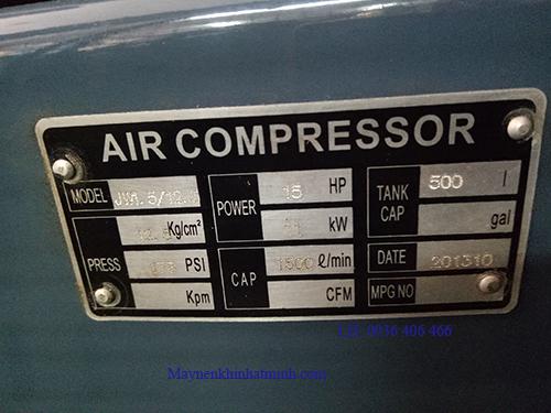 máy nén khí 500L công nghiệp