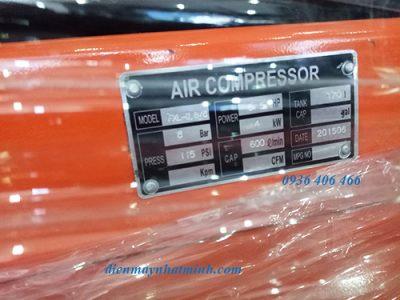 Máy nén khí công nghiệp 5.5HP 170lit