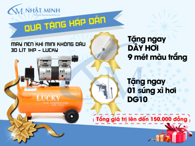 Khuyến mãi hấp dẫn khi mua máy nén khí tại điện máy Nhật Minh