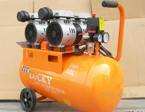 máy nén khí không ồn 2hp 50lit