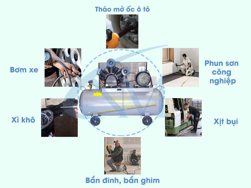 Ứng dụng của máy nén khí 500 lít 15HP ở nhiều lĩnh vực trong đời sống