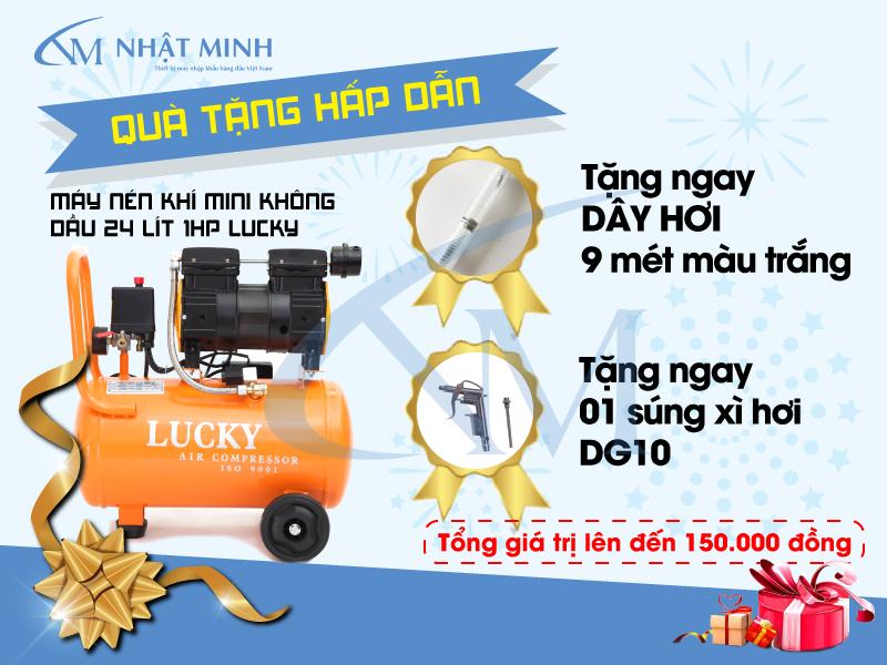 Khuyến mãi dành cho khách hàng khi mua máy nén khí Lucky
