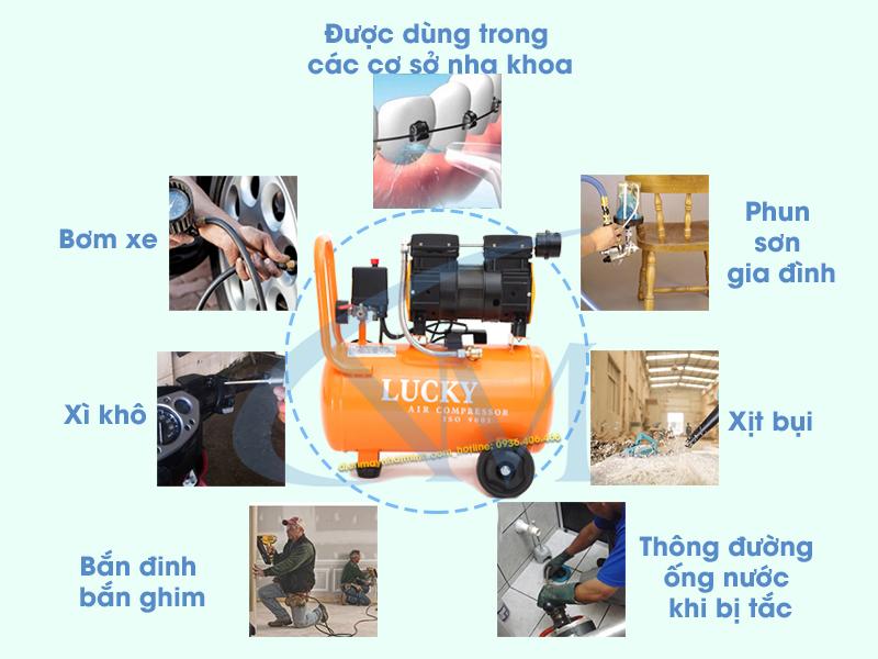 Ứng dụng thực tiễn của máy nén khí không dầu 24 lít