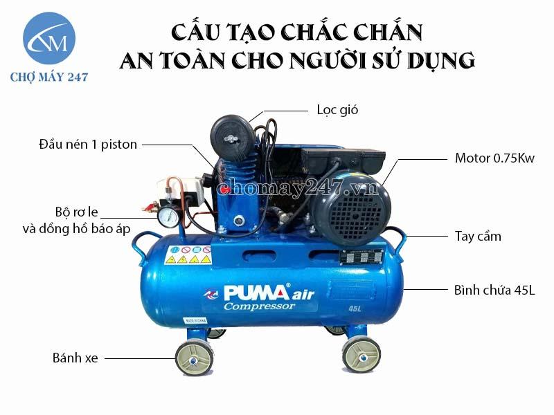 máy nén khí 1/4hp 45 lít Puma chất lượng độ bền cao