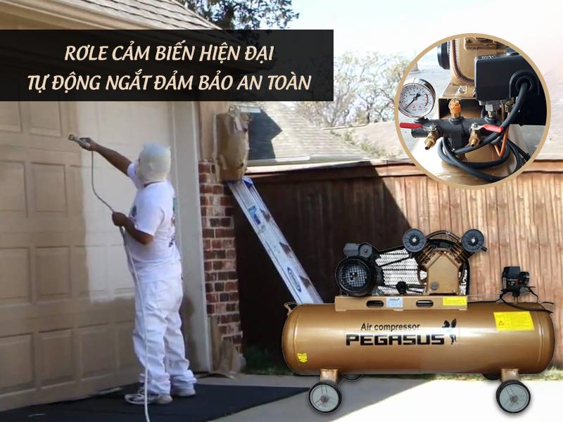 Máy nén khí 2Hp piston dây đai Pegasus giá tốt nhất
