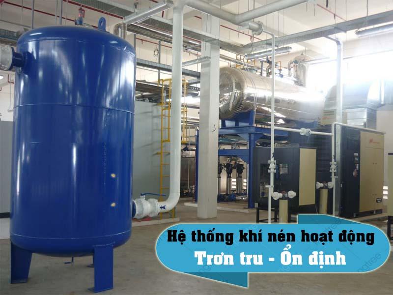 ứng dụng của bình chứa hơi máy nén khí