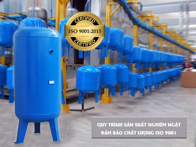 Quy trình sản xuất bình chứa hơi máy nén khí đạt chuẩn