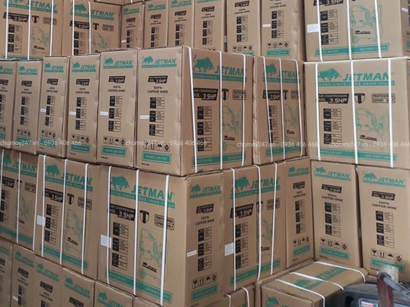 Tổng kho phân phối máy nén khí 280 lít 7.5HP 2 cấp Jetman
