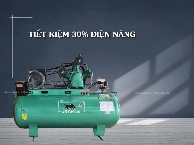 Máy nén khí piston 500 lít 15HP 2 cấp Jetman tiết kiệm điện