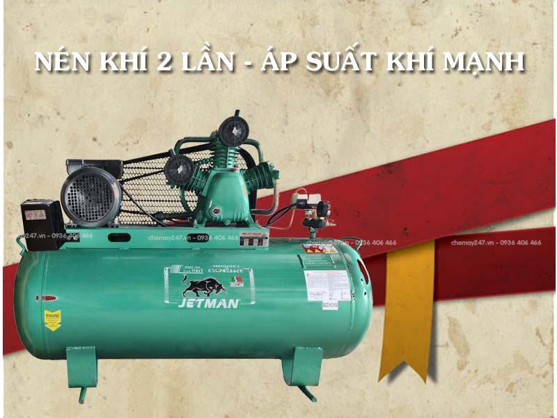 Máy nén khí piston 500 lít 20hp Jetman W20/50 công nghiệp hiệu suất hoạt động lớn
