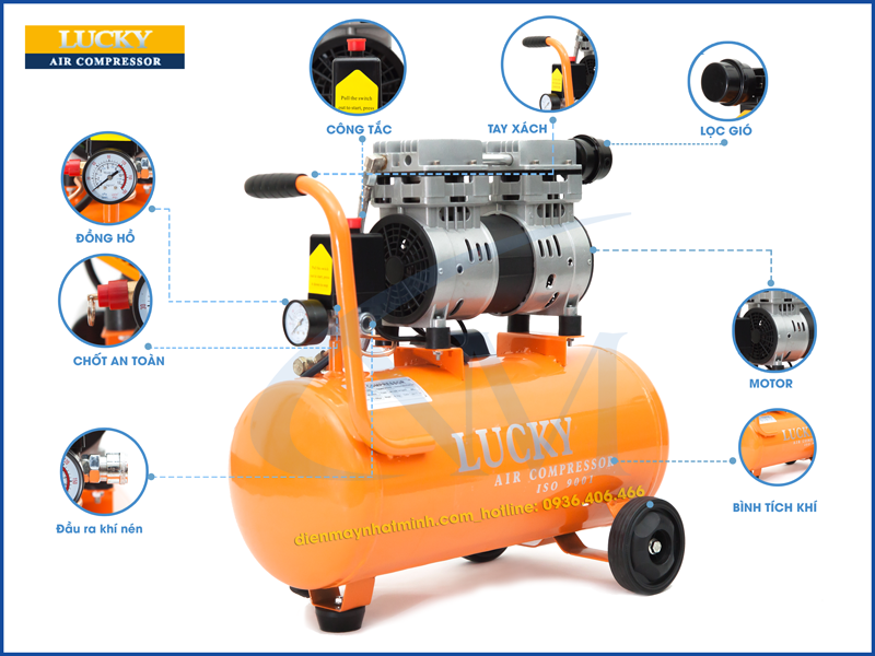 Các bộ phận của máy nén khí gia đình