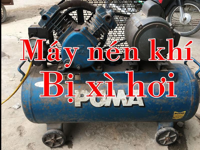 Lỗi máy nén khí bị xì hơi có thể tự khắc phục