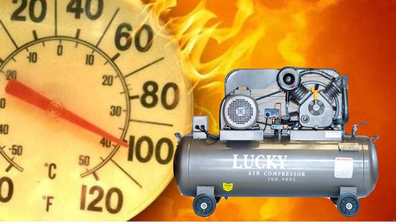 Đặt máy ở vị trí thoáng mát tránh máy nén khí bị xì hơi