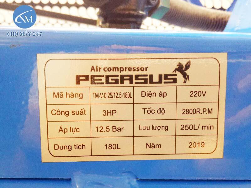 Máy nén khí 3HP 2 cấp giá rẻ, sản xuất tại Việt Nam, chất lượng cao