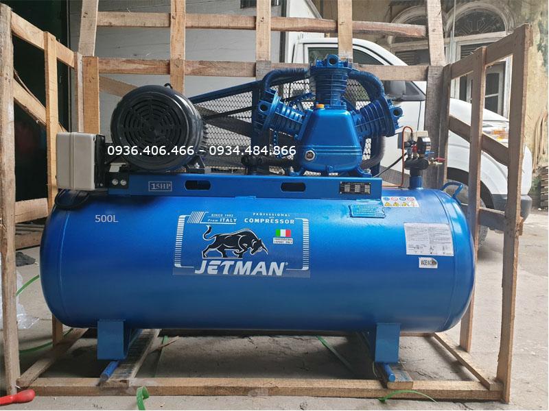 Máy nén khí 500 lít 15HP Jetman PK-150500  hàng nguyên kiện pallet