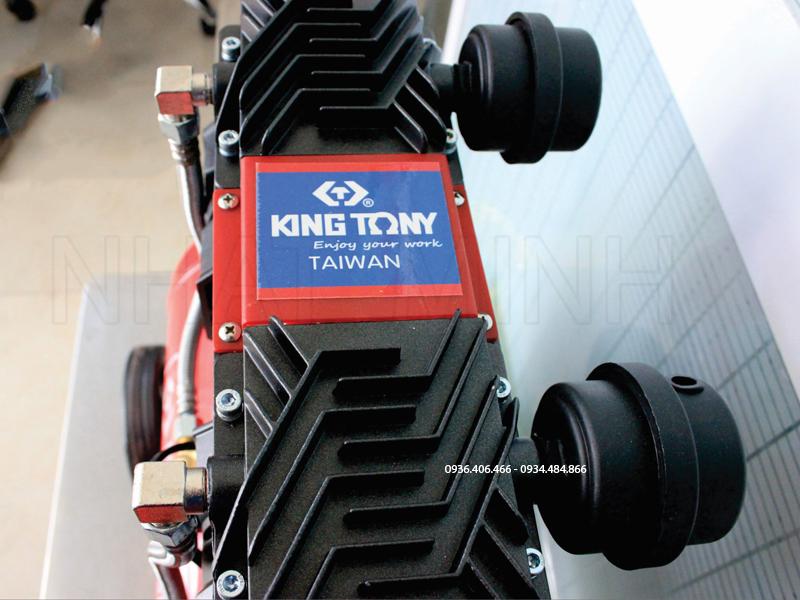Máy nén khí không dầu 50 lít 3hp King Tony Đài Loan chính hãng tem dính trên đầu máy