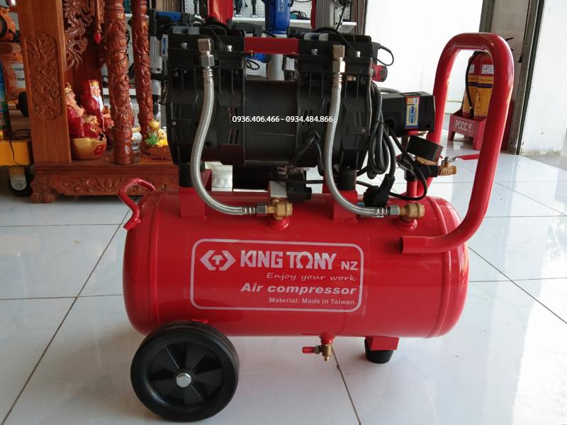 Mặt trước máy nén khí không dầu 50 lít 3hp King Tony Đài Loan
