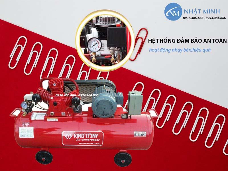 Máy nén khí piston Đài Loan 270 lít 7.5HP KingTony KTC-250W tự động ngắt quá tải