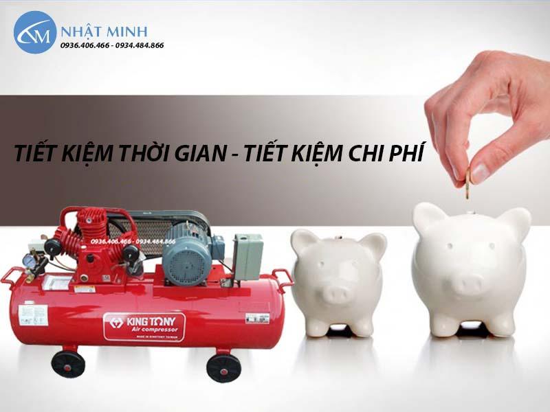 Máy nén khí piston Đài Loan 270 lít 7.5HP KingTony KTC-250W tiết kiệm điện
