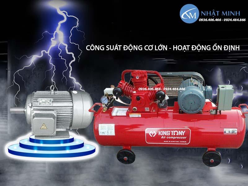 Máy nén khí piston Đài Loan 350 lít 10Hp KingTony KTC-300W động cơ dây đồng