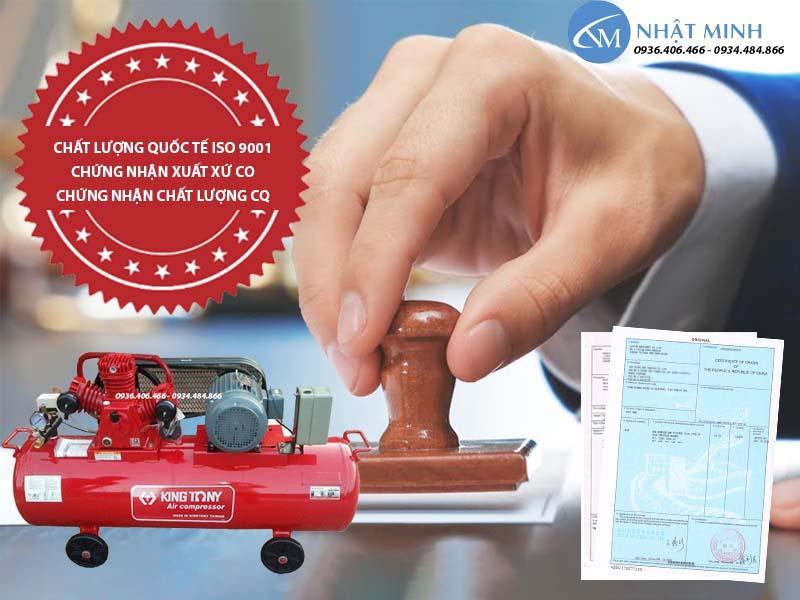 Máy nén khí piston Đài Loan 350 lít 10Hp KingTony KTC-300W chính hãng có giấy tờ