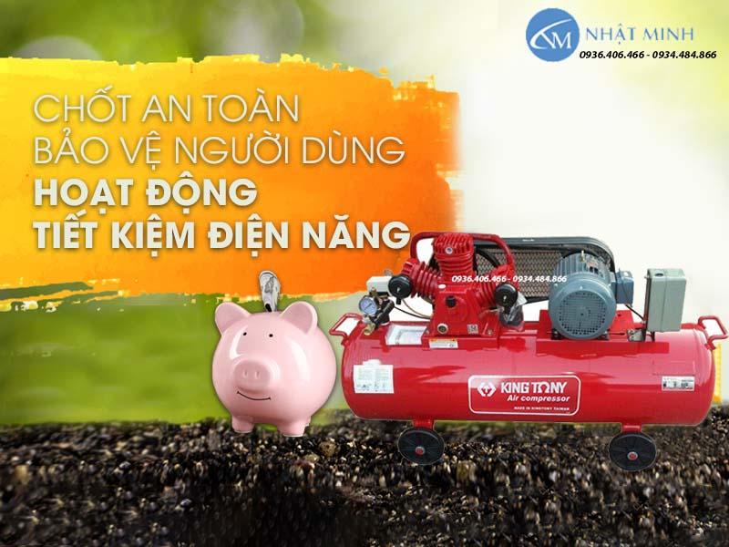 Máy nén khí piston Đài Loan 350 lít 10Hp KingTony KTC-300W giá tốt nhất cho thị trường Việt