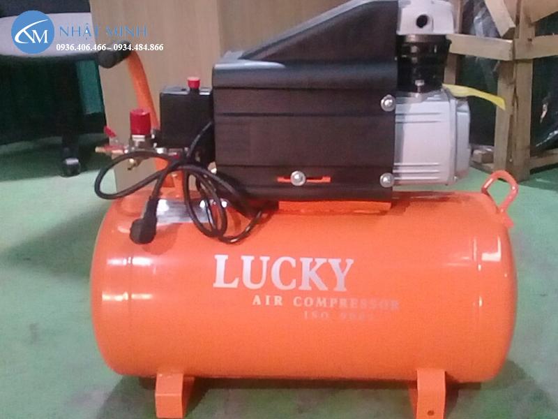 máy nén khí mini 50 lít 2Hp Lucky H50A có tem hãng