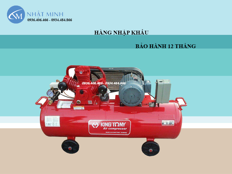 Máy nén khí Đài Loan 2 cấp 270 lít 7.5Hp KingTony KTC-250W2 nhập khẩu chính hãng bảo hành dài hạn